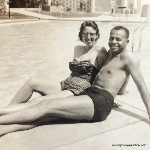 Betty and Sam, circa 1953: in Mexico on their honeymoon